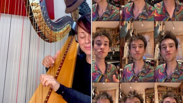 @jacobcollier has set a challenge to play Overjoyed by Stevie Wonder .. how could I resist?? Happy birthday Stevie 🎂#overjoyedchallenge #jacobcollier #harp #harpist #musician #challenge #steviewonder @steviewonderlegacy #overjoyed @harpcolumn #harpcolumn #lyonhealyharps#jacobcollierduet #duet #vocalduet