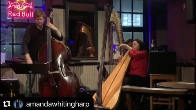 Tomorrow I get to play with my trio and try out my new music I've been writing for the next album. I can't wait. @jontriplet1 and @aidan_bassplayer can't wait to see you!!!! I'll post Jon's talents tomorrow. I couldn't resist a little repost of Blue in green with harp and bass ❤️ #bass #harp #jazzharp #jazz #billevans #milesdavis #kindofblue #harp #gig#pub#music #harpist #dorothyashby #spiritualjazz #modaljazz #improvising