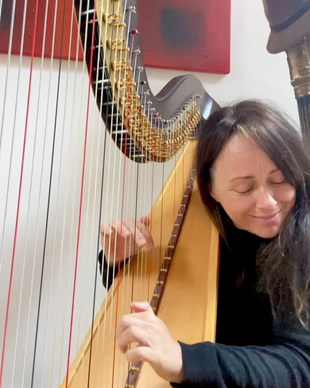 This morning I was so thrilled to give a talk on the NZ chat room with @annadunwoodie. They also let me play.. couldn't resist All of me as the sun was shining and it always makes me smile ☺️#jazz #harpist #music #allofme #harpcolumn #harp #improvise #playing #performance #jazzharp #dorothyashby #alicecoltrane #swingmusic